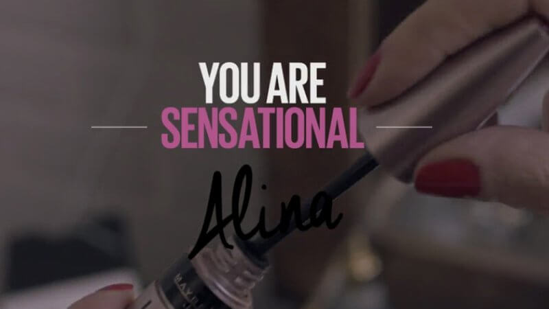 Video Personalisierung mit Maybelline New York You are Sensational