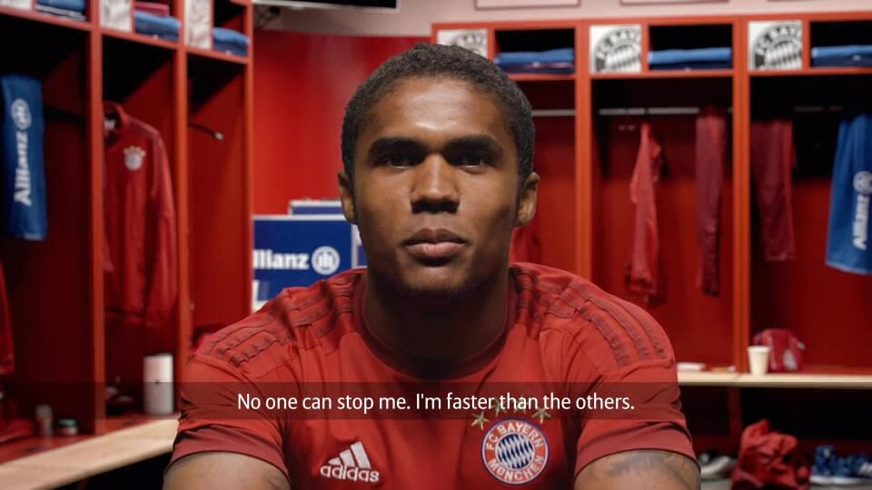 Personalisiertes Motivationsvideo für Allianz FC Bayern mit DDD Hamburg Costa