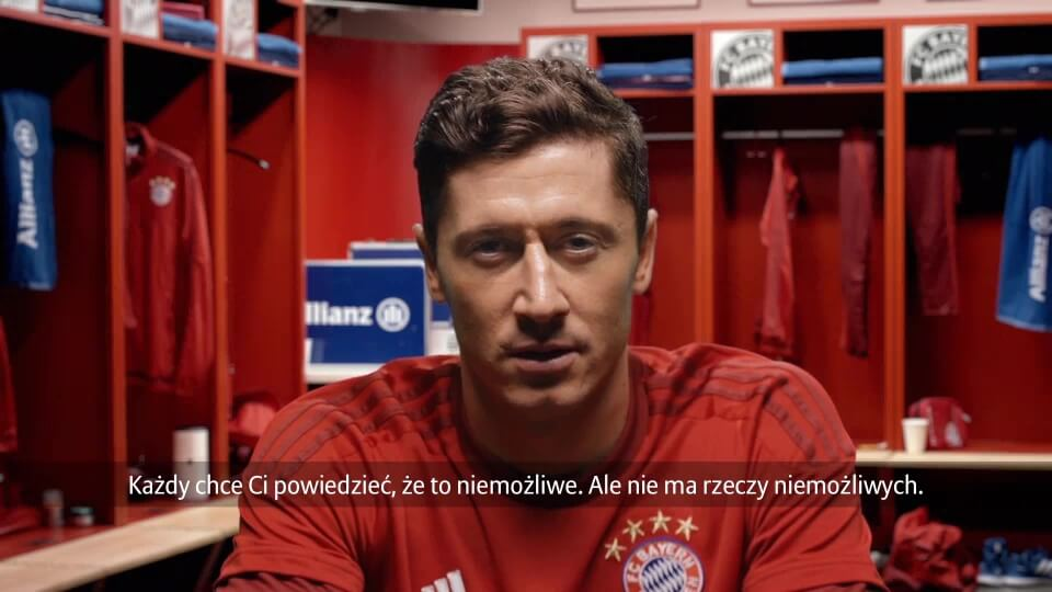 Personalisiertes Motivationsvideo für Allianz FC Bayern mit DDD Hamburg Lewandowski