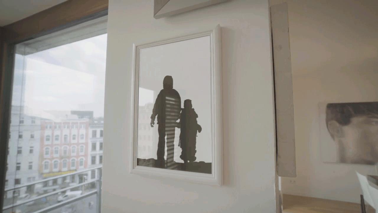 Video Personalisierung für Eurovision Song Contest Bild Individualisierung im Bilderrahmen an der Wand